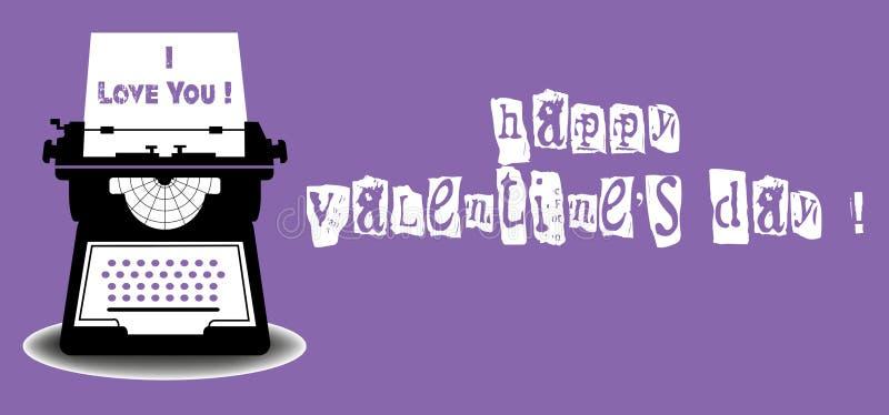 Valentine typewriter tool stock image