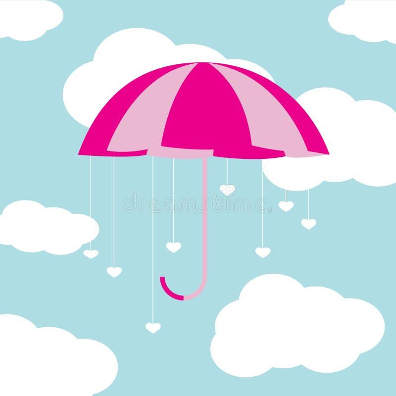 Valentine umbrella vector illustration