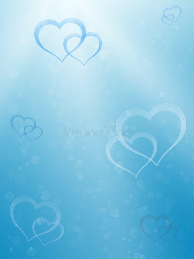 Valentine underwater background#2 royalty free illustration