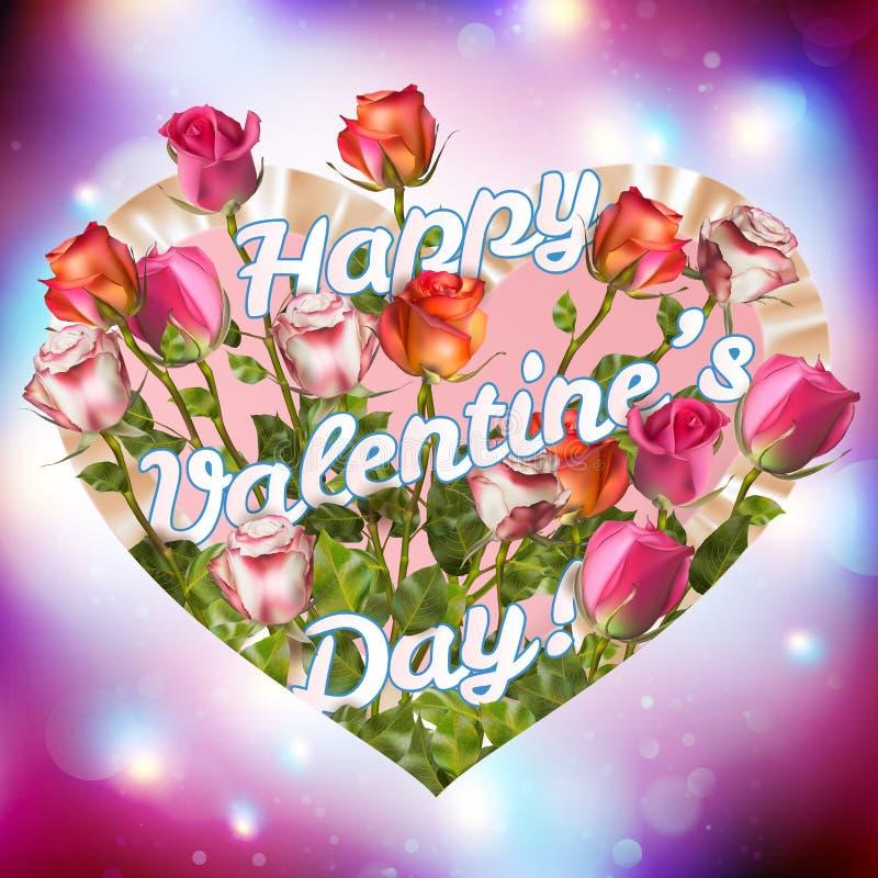 Valentine vintage card. EPS 10 vector illustration