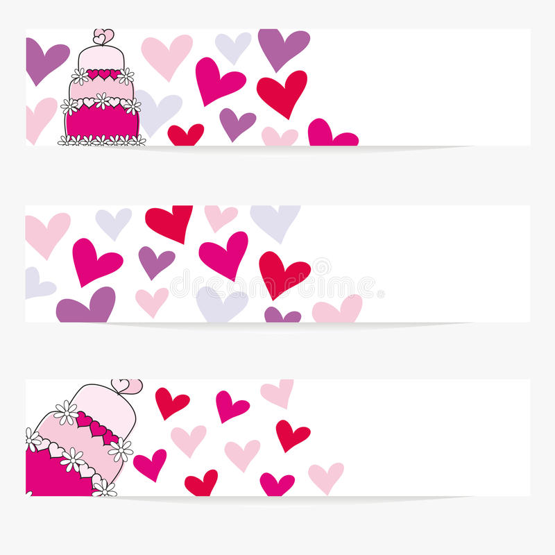 Download Valentine Or Wedding Banners Royalty Free Stock Images - Image: 20571639