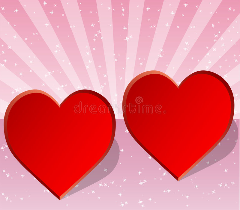 Valentine, wedding or love card stock image