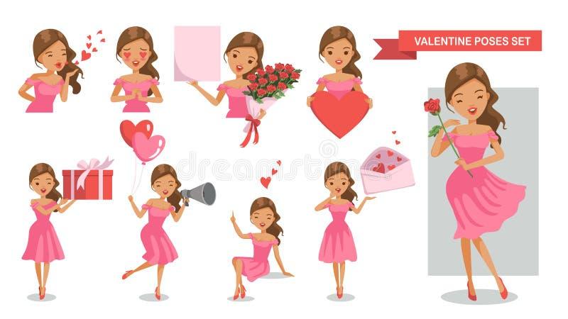 Valentine Women vector illustratie