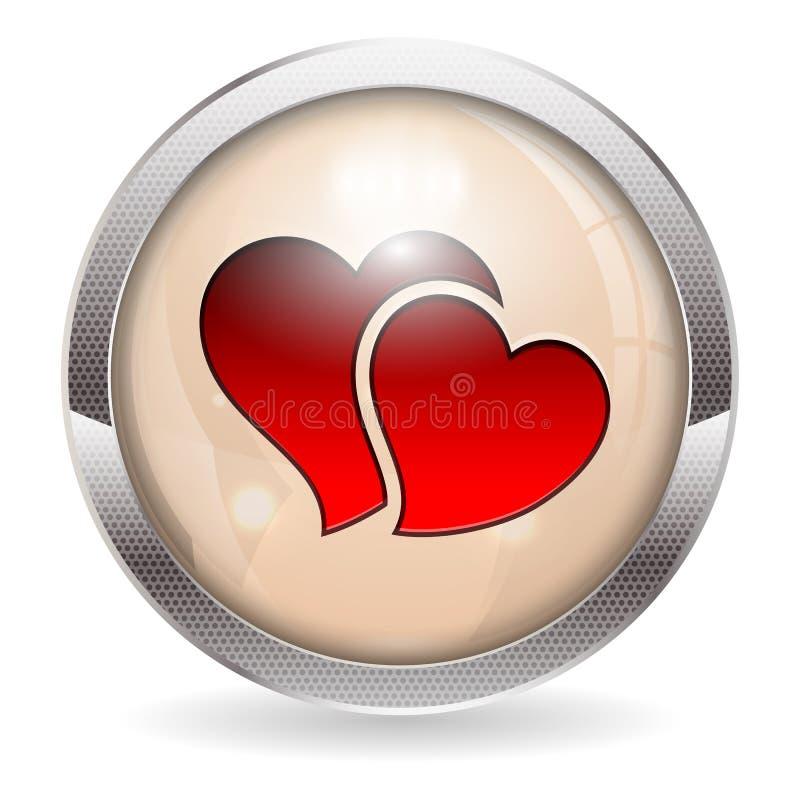 Valentinen knäppas vektor illustrationer