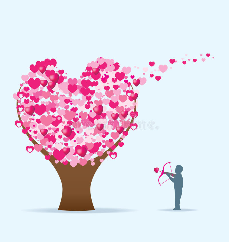 valentiner för dagidétree royaltyfri illustrationer