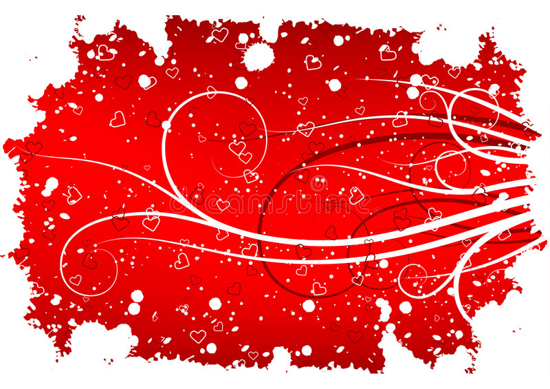 valentiner för kortdaghälsning vektor illustrationer
