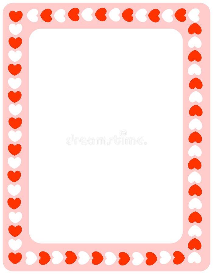 valentiner för red för kantdaghjärtor royaltyfri illustrationer