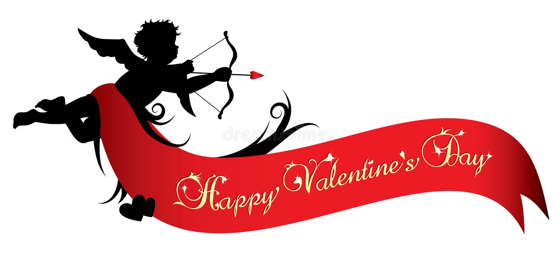 valentines дня знамени счастливые бесплатная иллюстрация