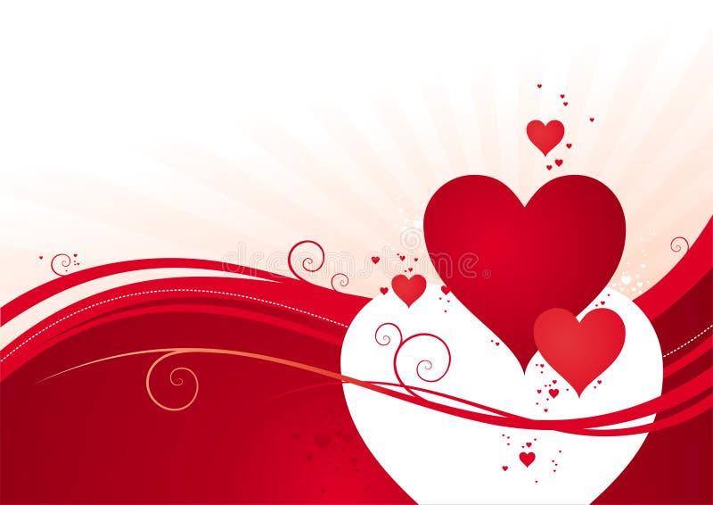 valentines дня предпосылки иллюстрация вектора