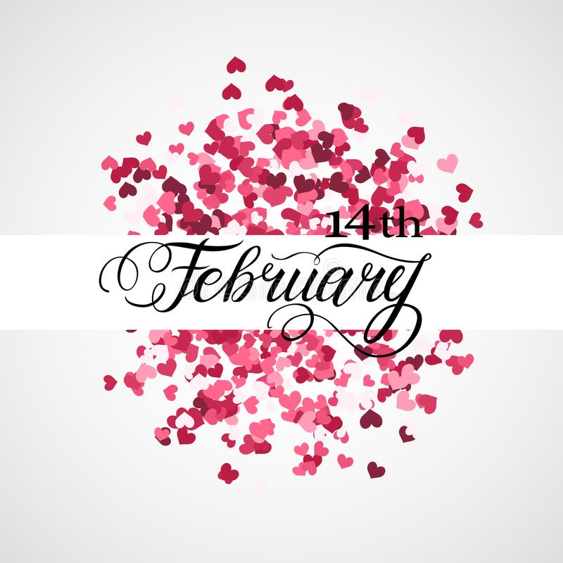 valentines дня счастливые иллюстрация штока