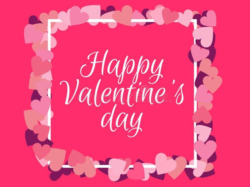 valentines дня счастливые Предпосылка для карточки поздравлений вектор иллюстрация вектора