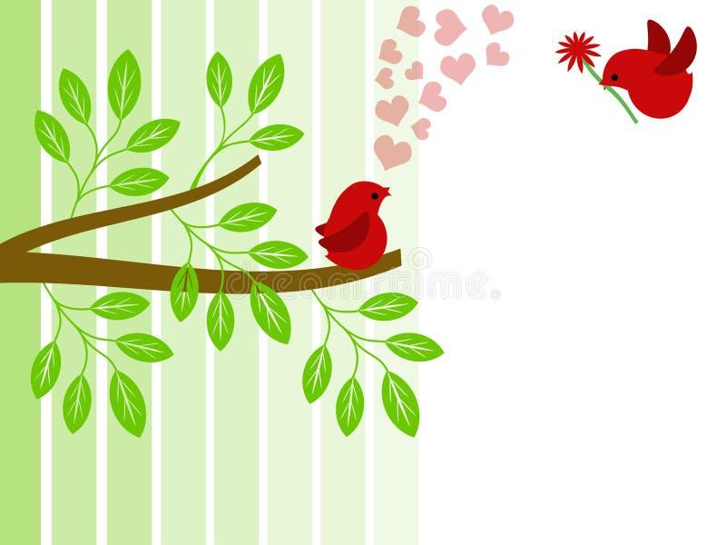 valentines пар влюбленности дня птиц бесплатная иллюстрация