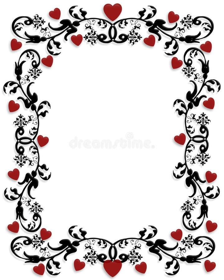 valentines рамки дня граници иллюстрация штока