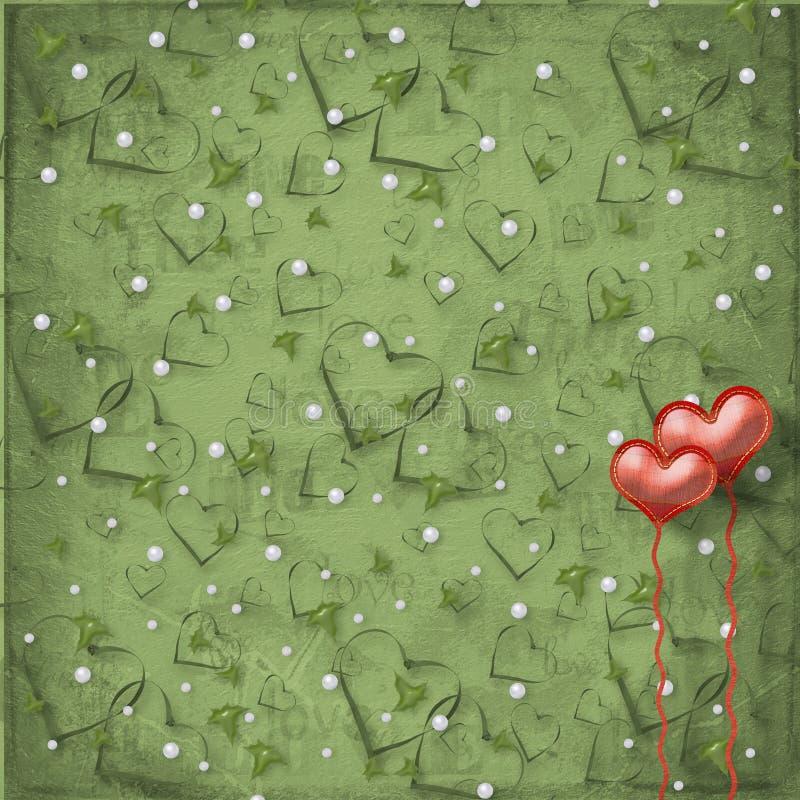 valentines сердец дня карточки бесплатная иллюстрация