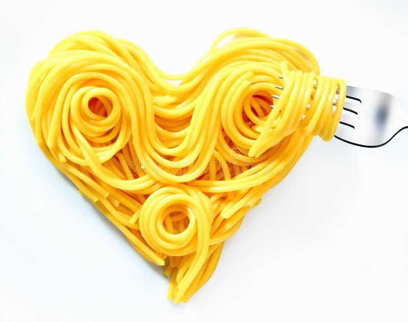 valentines спагетти сердца стоковое изображение