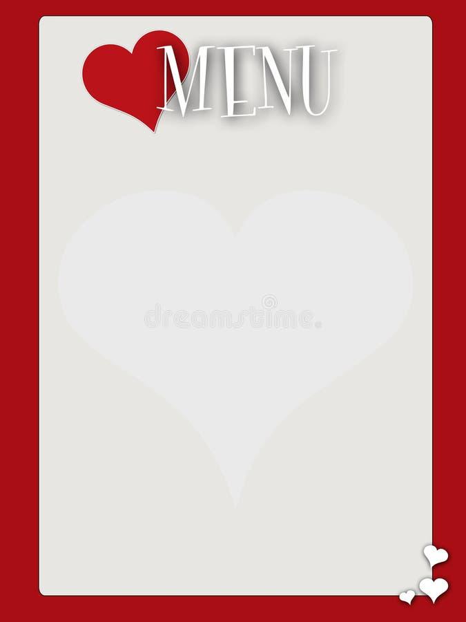 valentines типа пустого меню ретро бесплатная иллюстрация