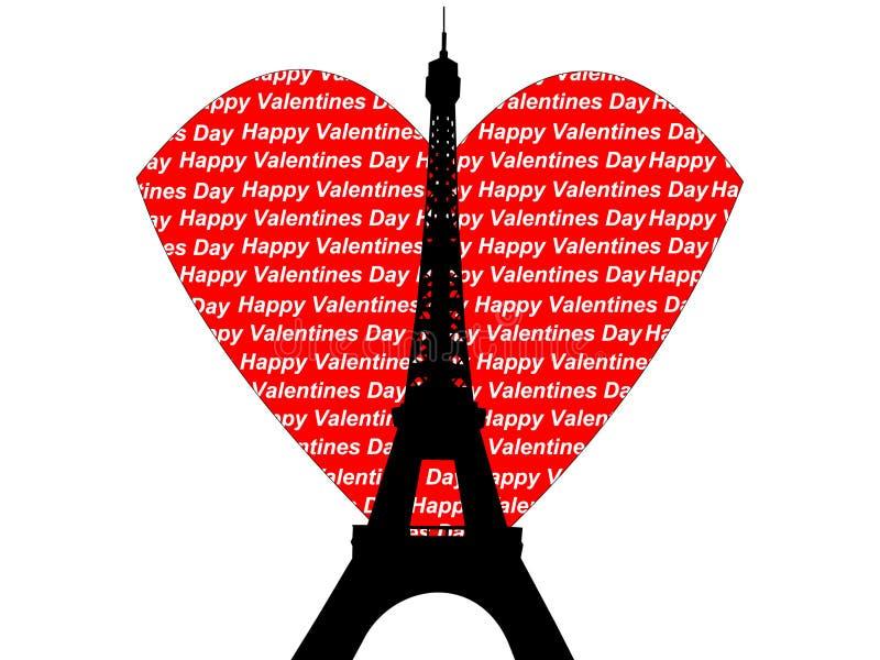 valentines Эйфелевы башни иллюстрация штока