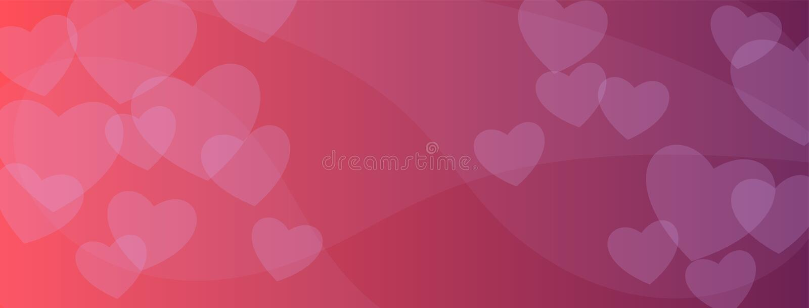 Valentines abstract red background for social media promotion. Love, wedding banner, poster template. February 14th day. Layout design. Pink romantic wallpaper vector illustration