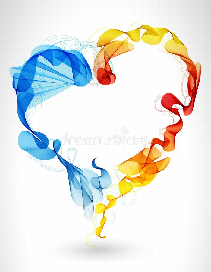 Download Valentines Background With Abstract Heart Stock Vector - Image: 28465514