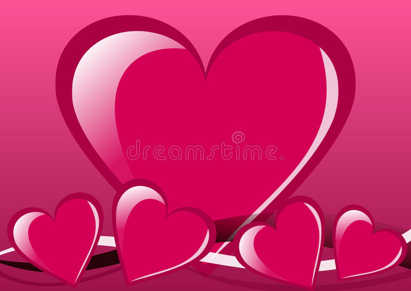 Download Valentines Background With Hearts Stock Illustration - Illustration: 11397386