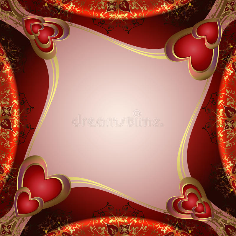 Download Valentines Background With Hearts Stock Vector - Illustration of pink, color: 26370645