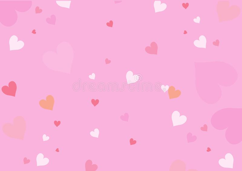 Valentines background with little hearts stock photo