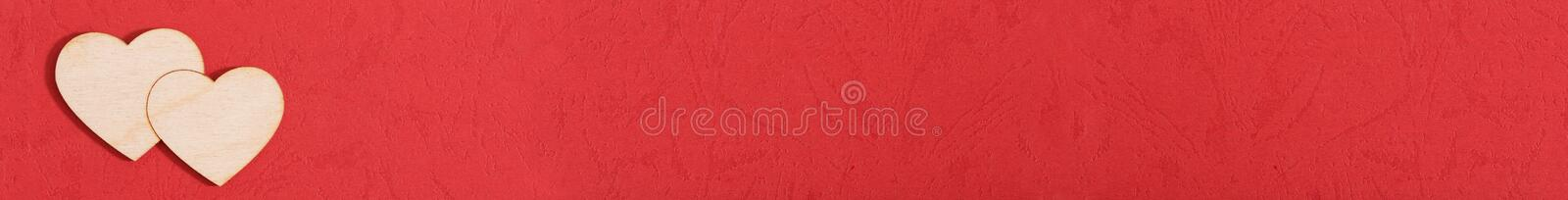Valentines background with red heart stock images