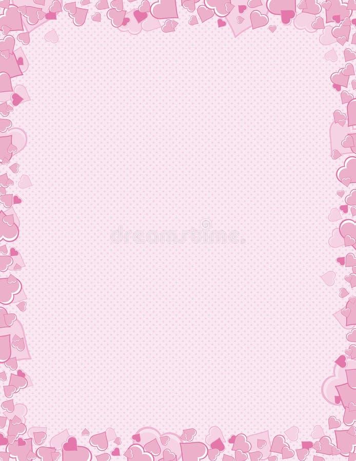 Valentines background, vector. Pink background for valentines day, vector illustration stock illustration