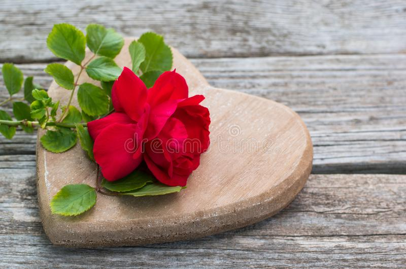 Valentines Background, wooden heart, Red roses, Valentine day love. Valentines Background, wooden heart, Red roses Valentine day love. With copy space stock photography