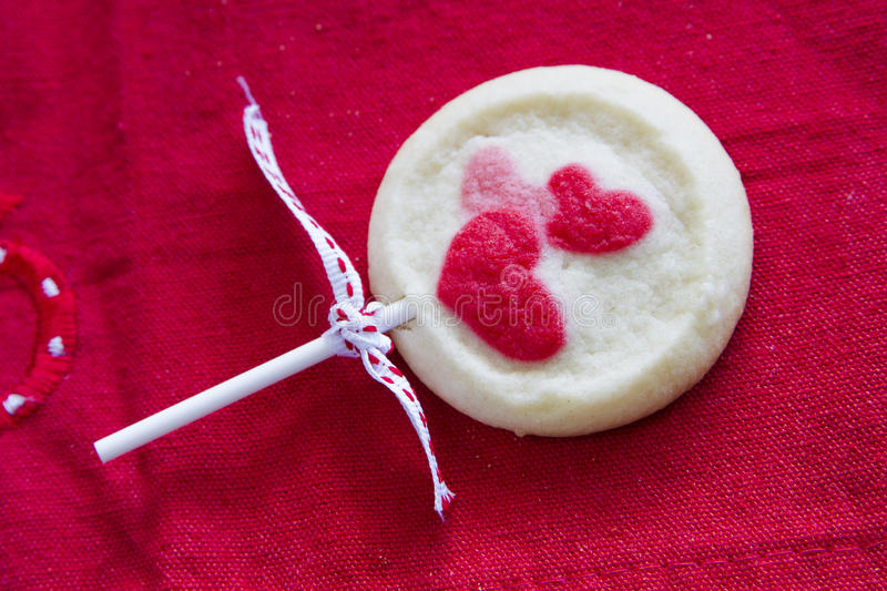 Valentines Biscuit Royalty Free Stock Photo
