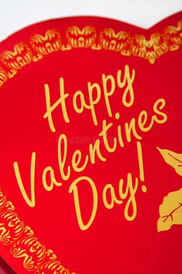 Valentines Box. Red heart shaped Happy Valentines Day box stock photos