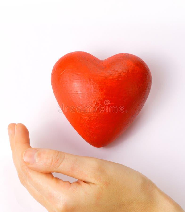 Valentines - coeur rouge à disposition photo stock