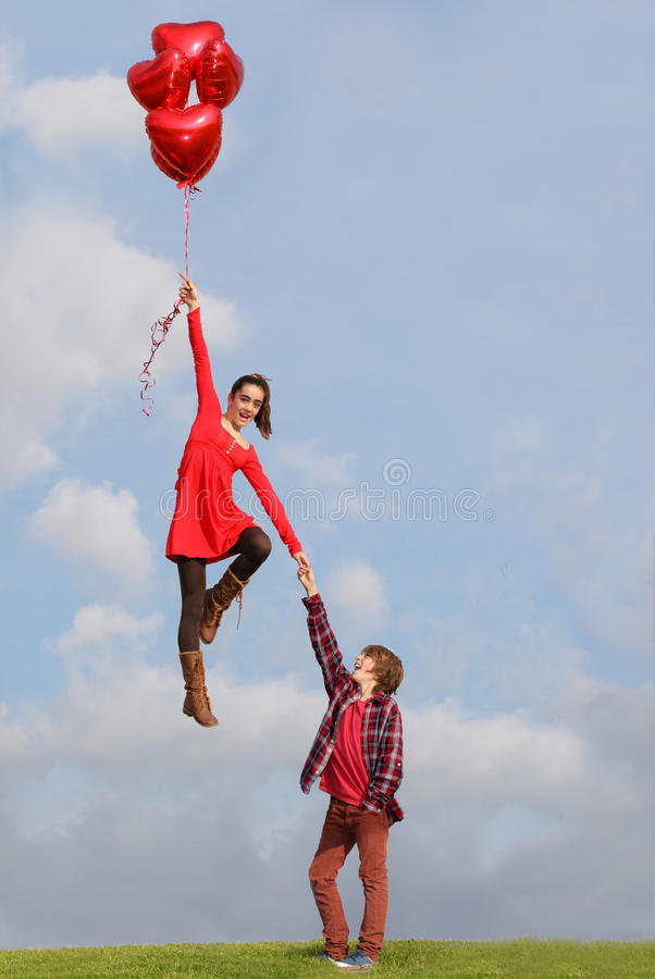 Valentines couple royalty free stock image