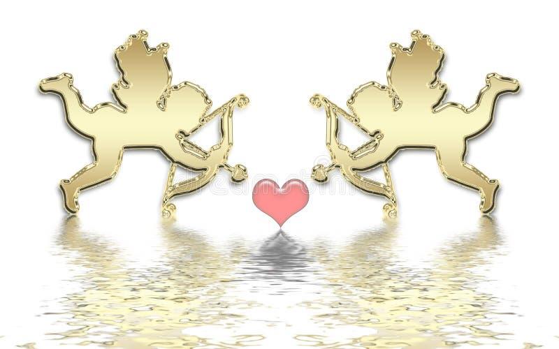 Download Valentines cupids stock illustration. Illustration of cupid - 7514086