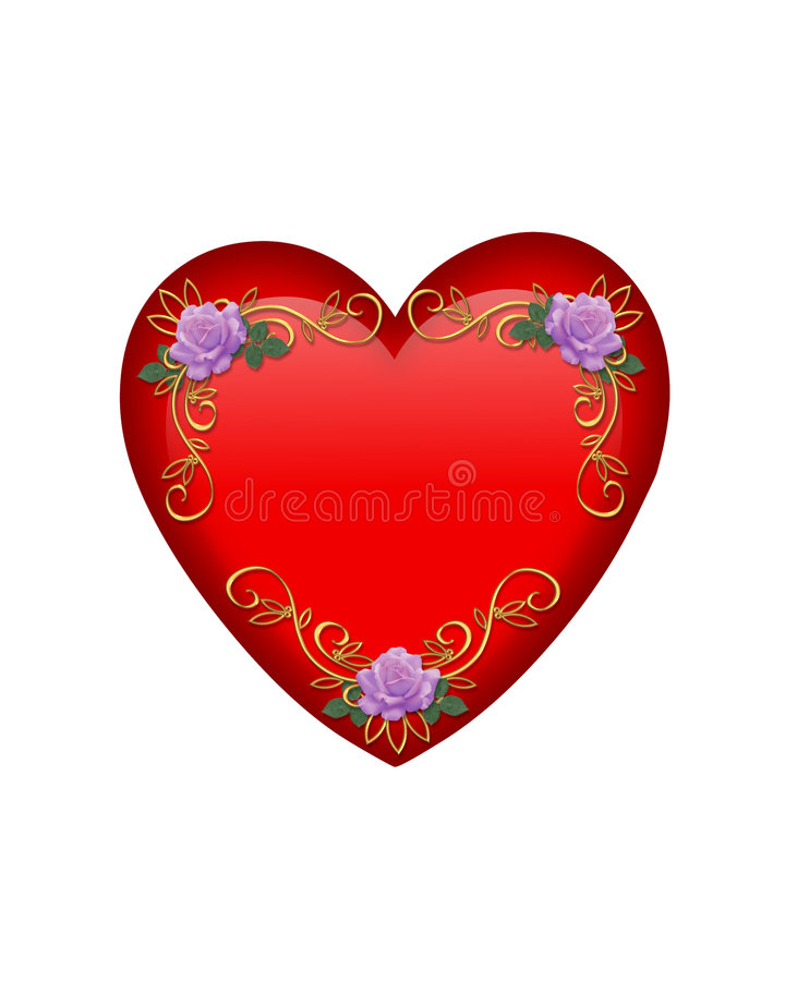 valentines d'isolement par coeur graphique de jour illustration de vecteur