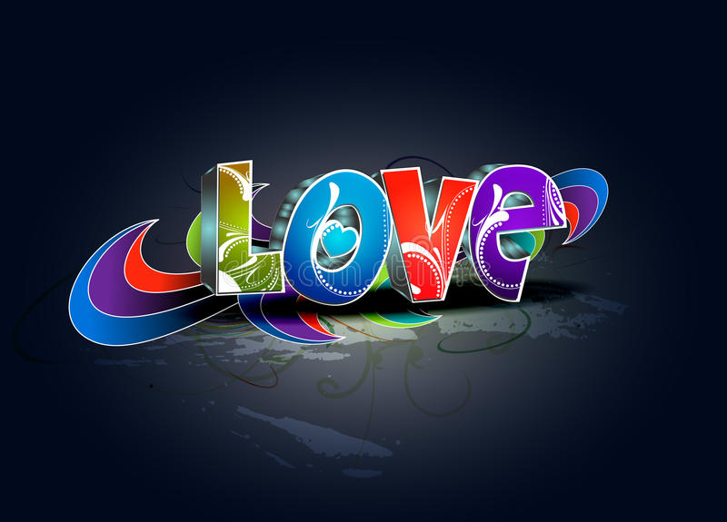 Download Valentines Day 3d Love Design Stock Photography - Image: 17712542