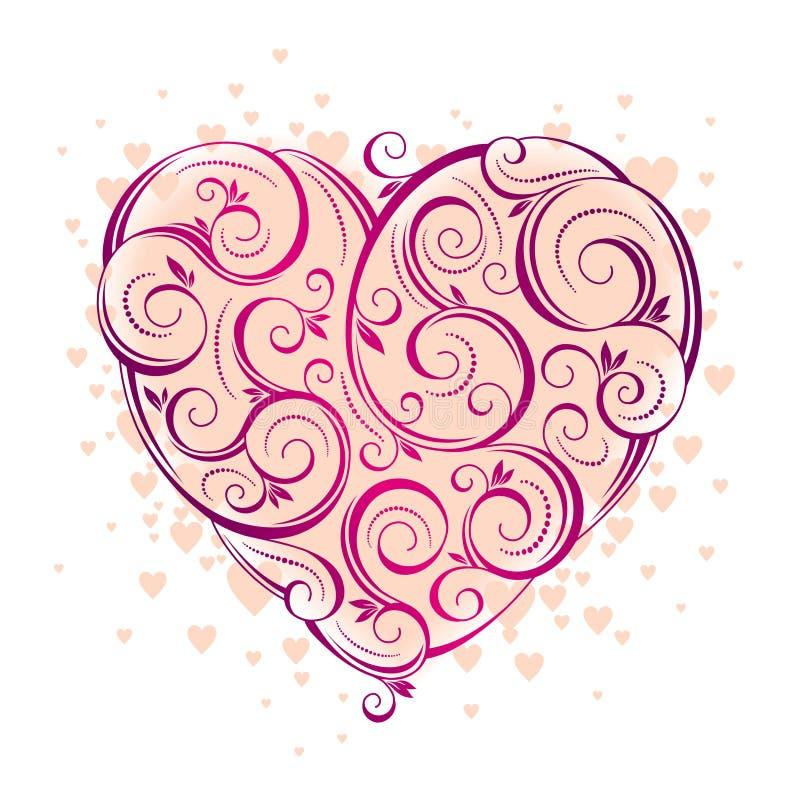 The Valentines day stock illustration