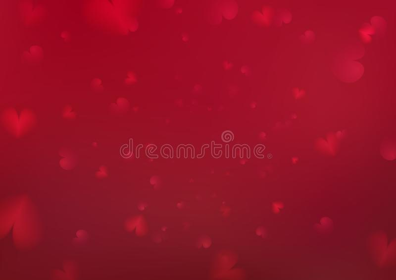 Valentines day abstract background, heart shape scatter decoration festive holiday vector abstract illustration vector illustration