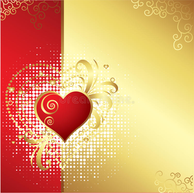 Download Valentines Day Background stock vector. Image of floral - 12502806