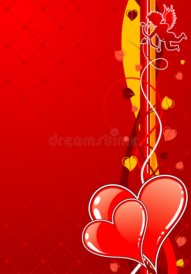 Download Valentines Day background stock vector. Image of silhouette - 17921695