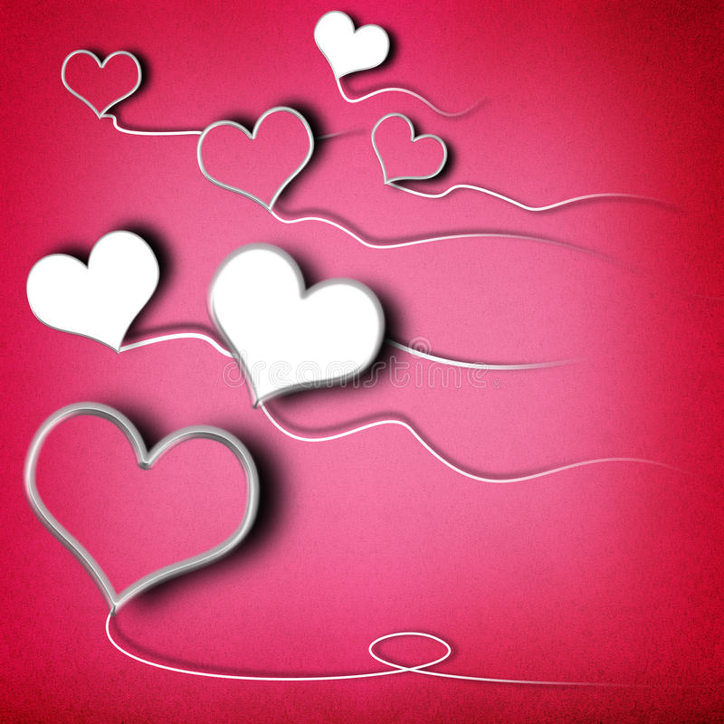 Valentines day background. With heart shaped kites vector illustration