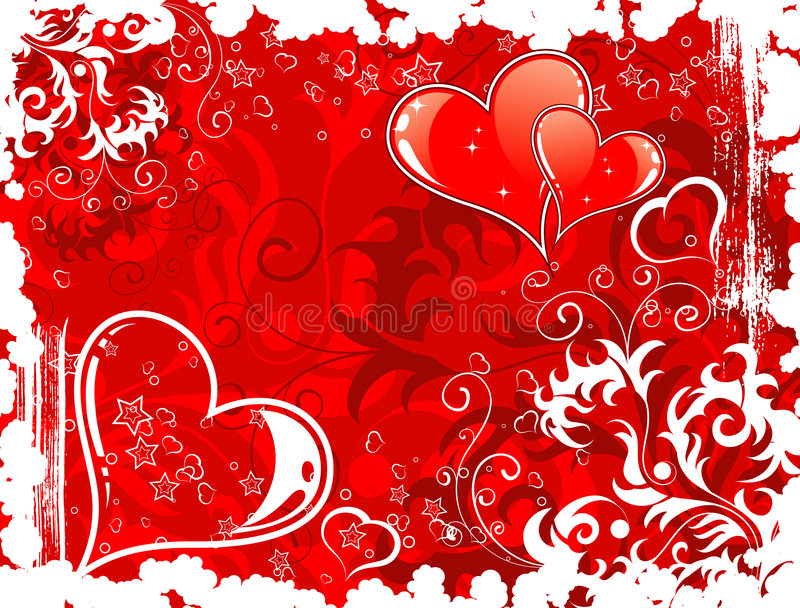 Download Valentines Day Background With Stock Vector - Illustration of beautiful, pattern: 3995382