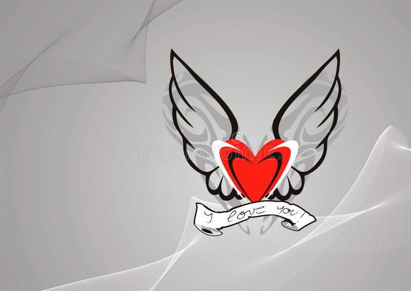 Download Valentines Day background stock illustration. Illustration of winged - 452468