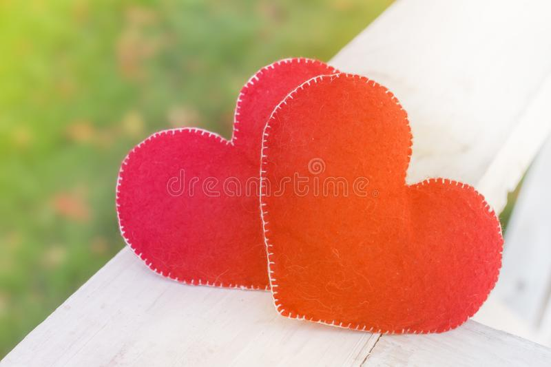 Valentines day background abstract symbol. Two heart concept of love. Valentines day background abstract symbol. Two heart shape concept of love stock image