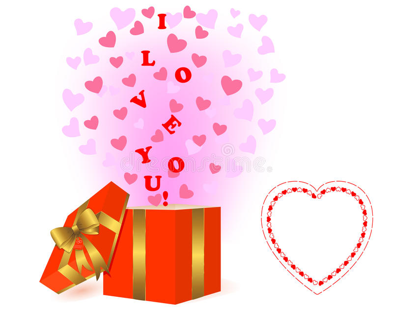 Download Valentines Day Background With A Gift. Stock Vector - Illustration: 22838902