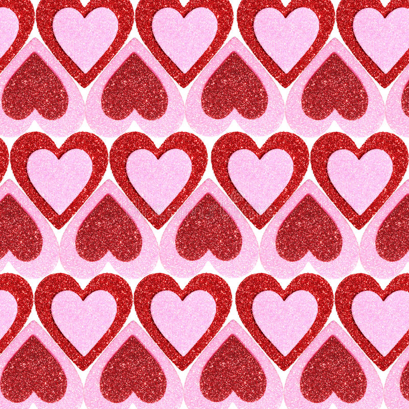 Valentines Day Background. Glitter Red And Pink Hearts. Stock ...