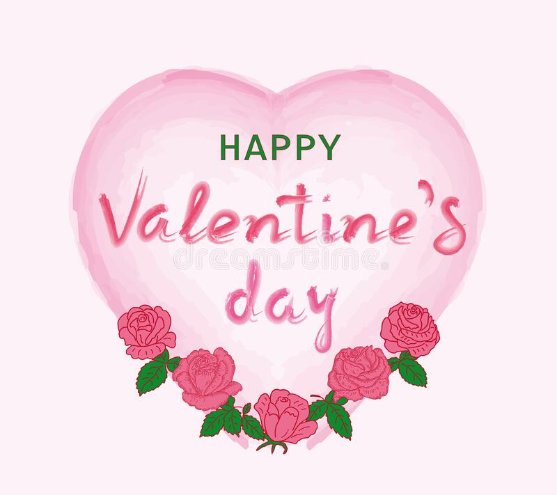 Valentines day background with heart pattern and roses. stock photos