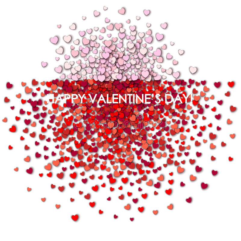 Valentines day background. With hearts royalty free illustration