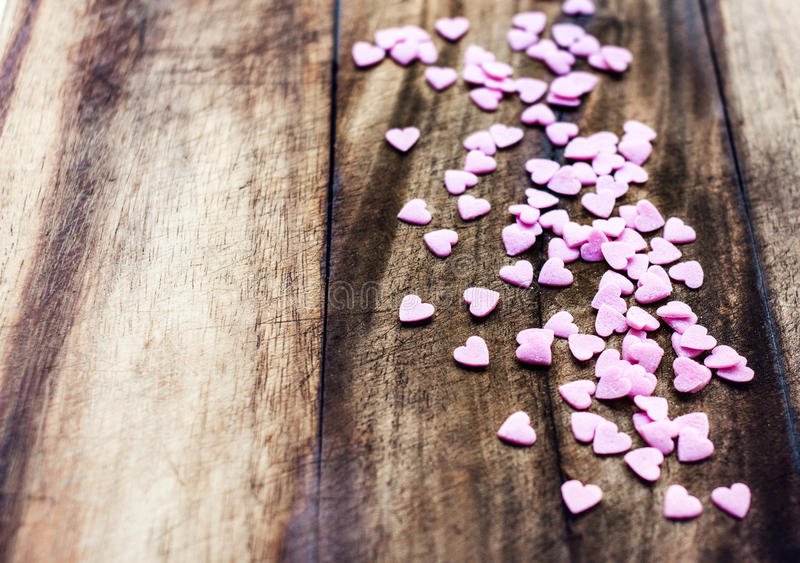 Valentines Day Background With Hearts. Love Concept, Sugar Heart Stock Photography
