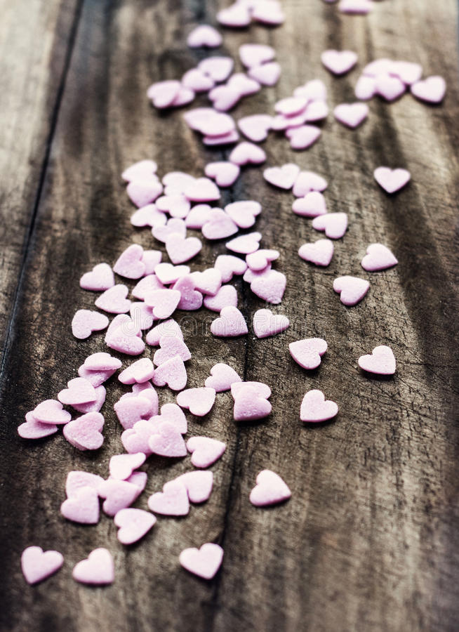 Download Valentines Day Background With Hearts. Love Concept, Sugar Heart Stock Photo - Image: 35277020